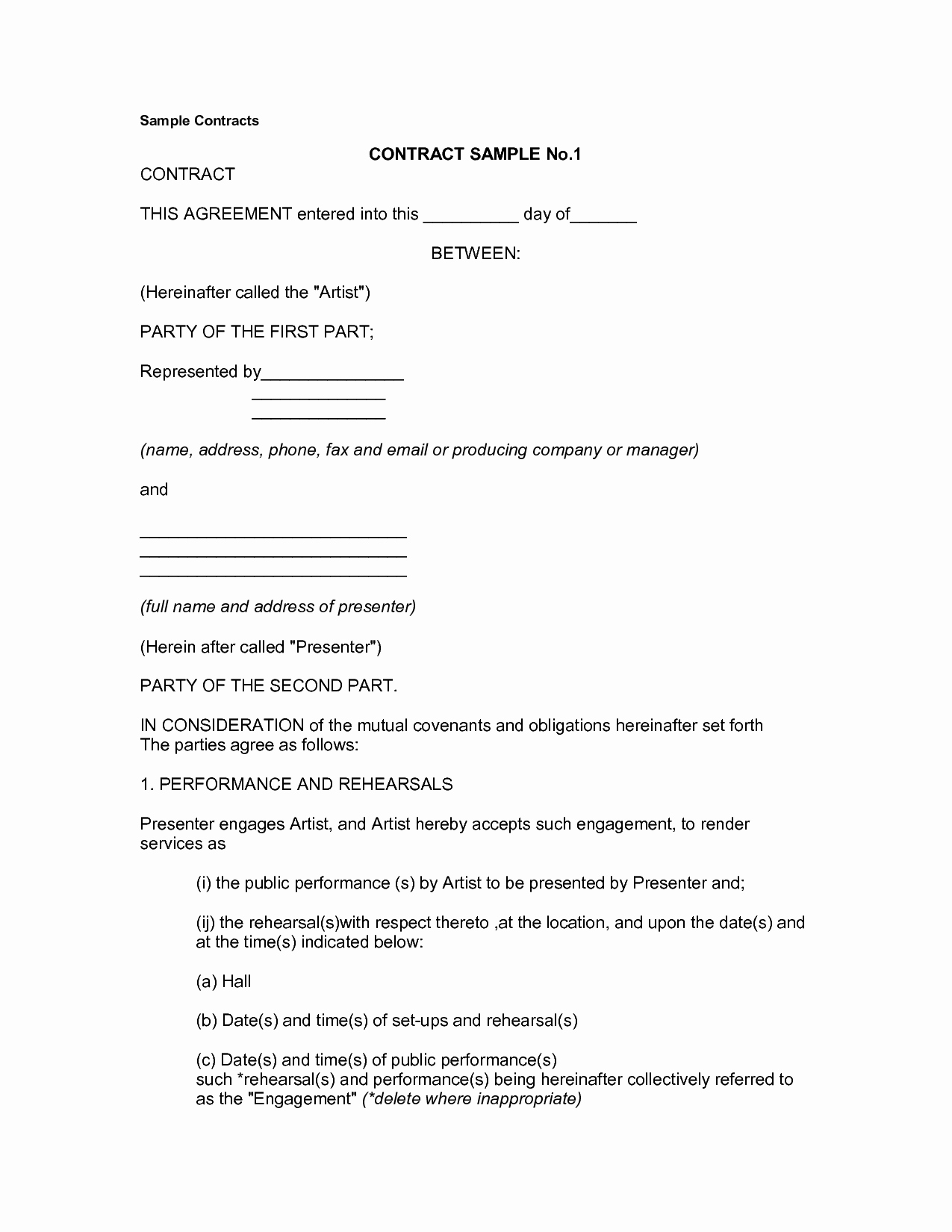Simple Business Contract Template New Basic Contract for Services Mughals