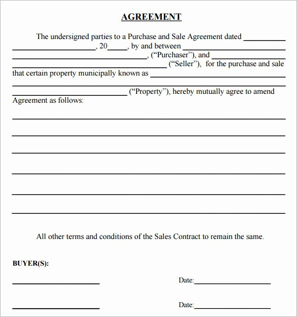 Simple Buy Sell Agreement Template Awesome Simple Sales Agreement