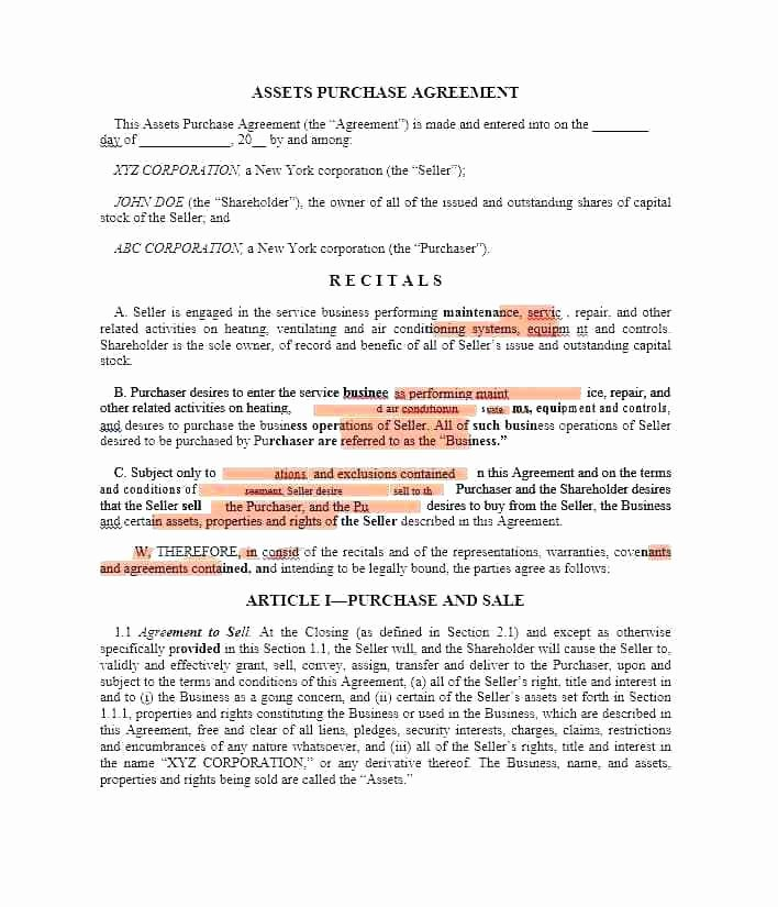 Simple Buy Sell Agreement Template Beautiful Equipment Purchase Agreement Template Word Printable