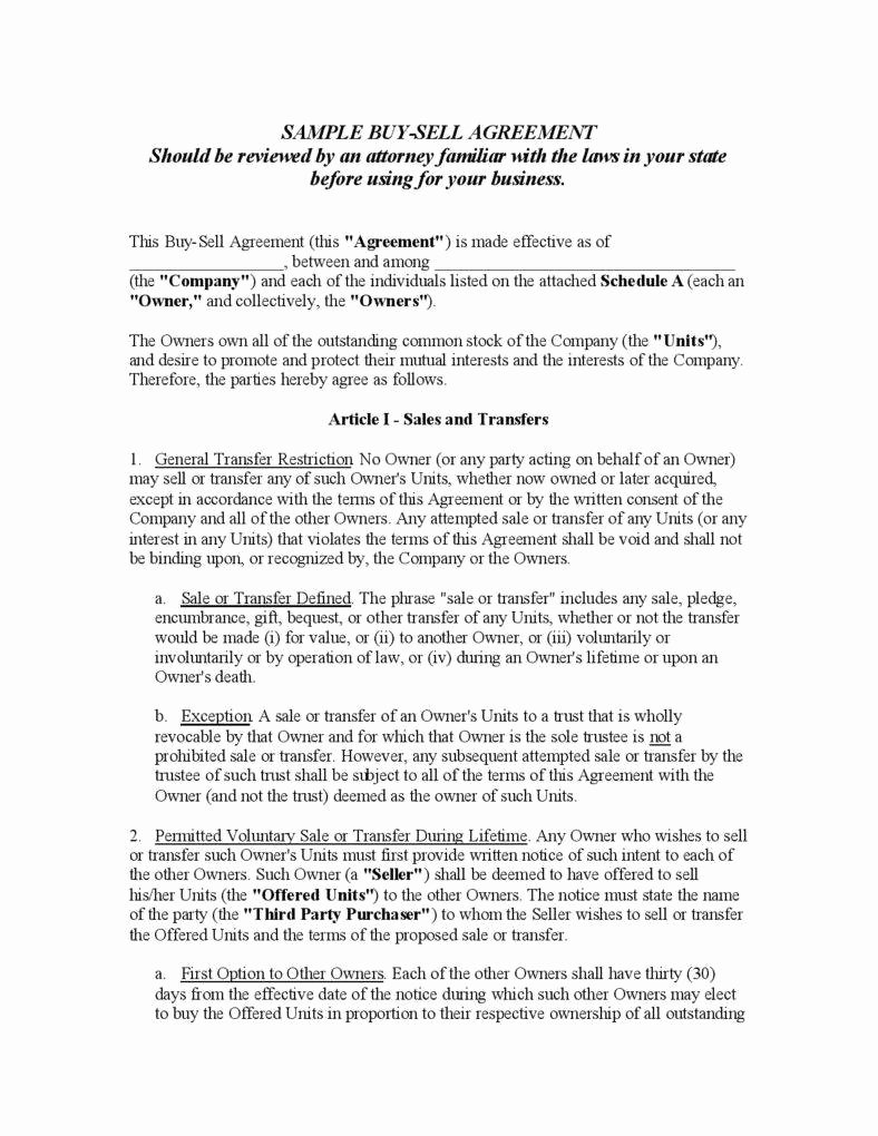 Simple Buy Sell Agreement Template Beautiful Understanding the 3 Fundamentals Of A Buy Sell Agreement