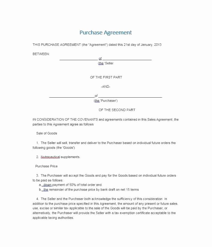 Simple Buy Sell Agreement Template Inspirational Simple Land Purchase Agreement Awesome Sales Contracts