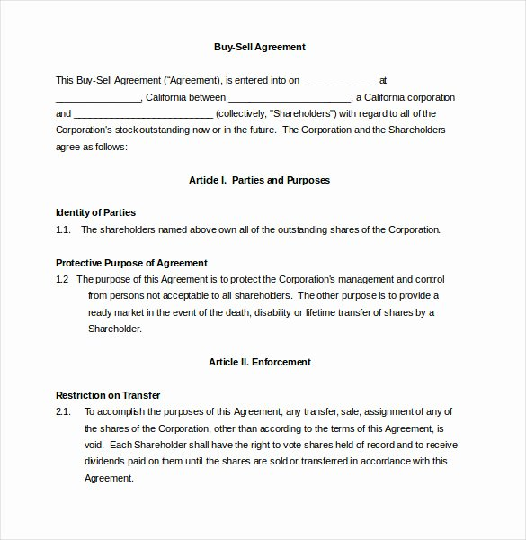 Simple Buy Sell Agreement Template New 22 Buy Sell Agreement Templates Pages Docs