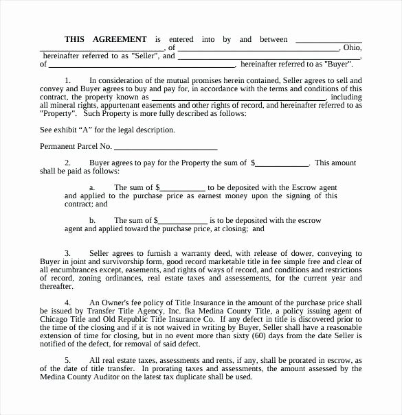 Simple Buy Sell Agreement Template New Real Estate Purchase Contract Template Simple Buy Sell