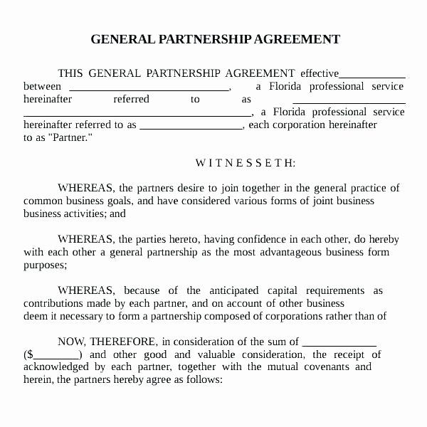 Simple Collaboration Agreement Template Awesome Partnership Agreement Free Template Partnership Contract