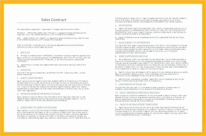 Simple Collaboration Agreement Template Fresh Sample Vendor Agreement Elegant Unique Proposal Contract
