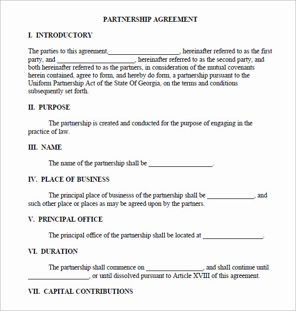 Simple Collaboration Agreement Template Inspirational Partnership Agreement Sample