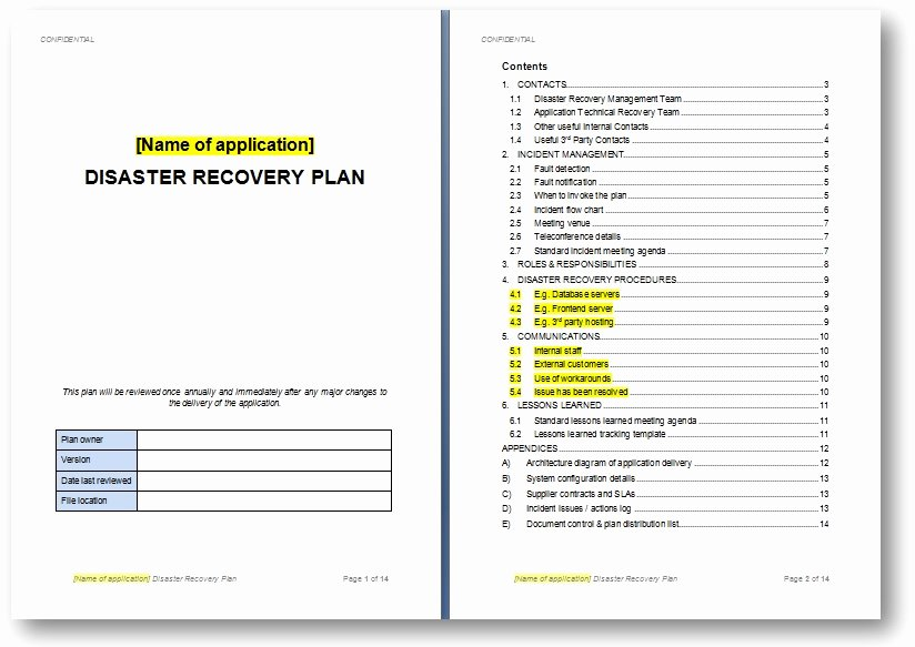 Simple Disaster Recovery Plan Template Beautiful Disaster Recovery Plan Template the Continuity Advisor