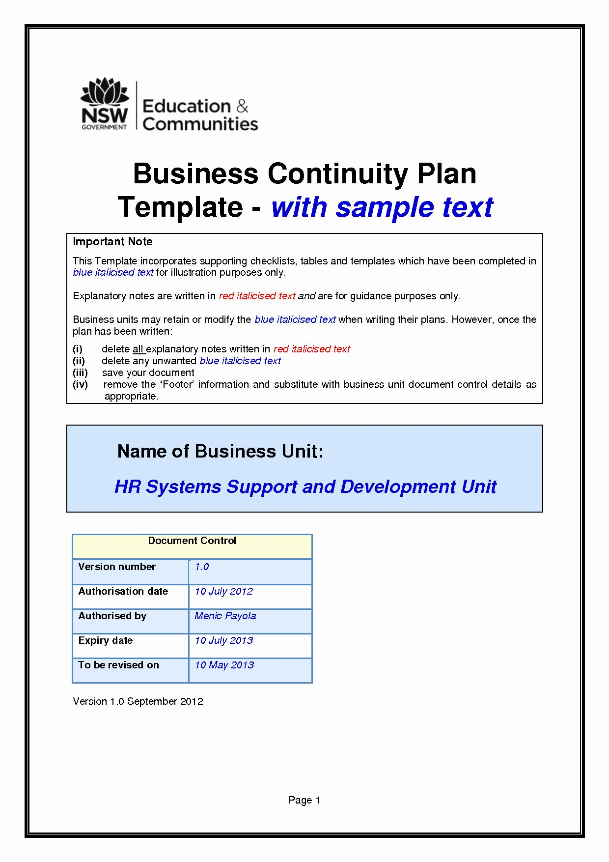 Simple Disaster Recovery Plan Template Best Of Uk Government Disaster Recovery Plan S and