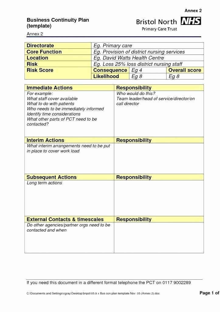 Simple Disaster Recovery Plan Template Inspirational Disaster Recovery Plan Template for Small Business Inside