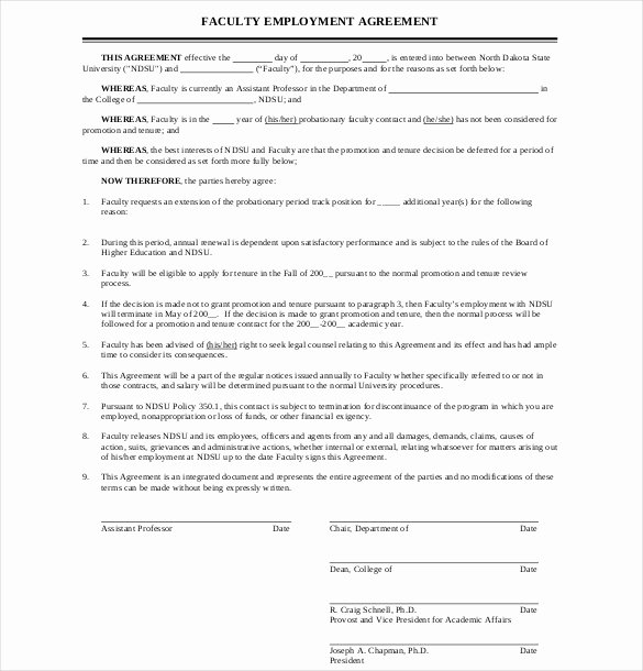 Simple Employment Contract Template Free Fresh Simple Employment Agreement