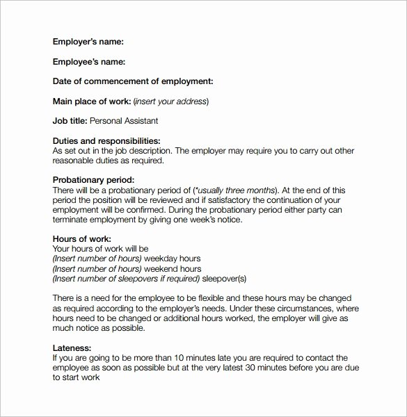 Simple Employment Contract Template Free Inspirational 10 Job Contract Templates to Download for Free