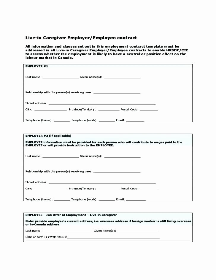 Simple Employment Contract Template Free New Printable Sample Employment Contract form Template Basic