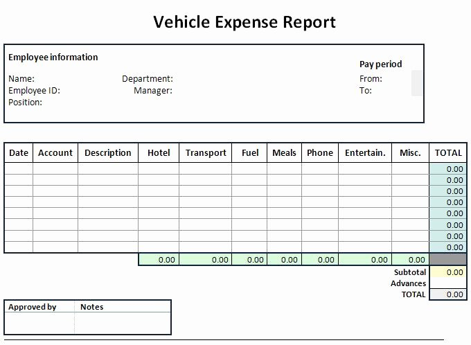 Simple Expense Report Template Fresh Expense Sheet Template