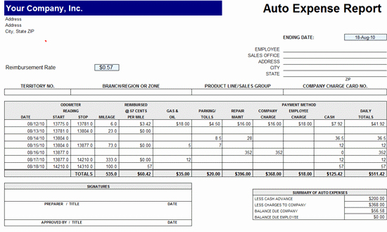 Simple Expense Report Template Luxury Expense Reports