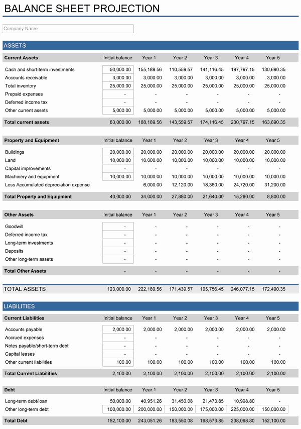 Simple Financial Plan Template Elegant 5 Year Financial Plan