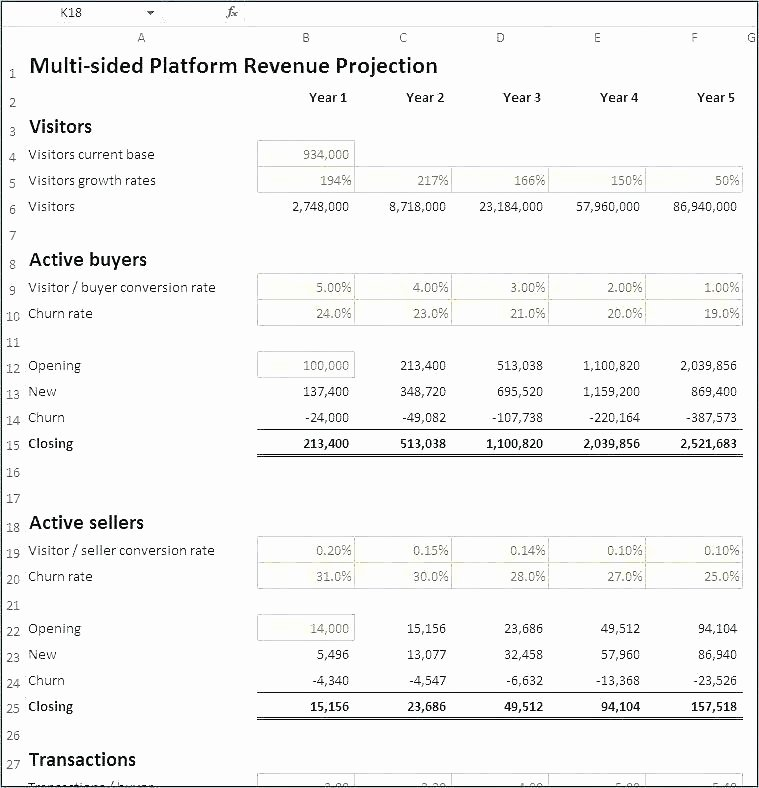 Simple Financial Plan Template Elegant Basic Financial Projections Template