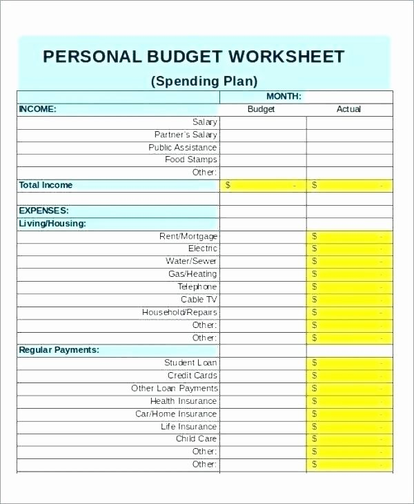 Simple Financial Plan Template New Excel Spreadsheet Household Bud Personal Simple