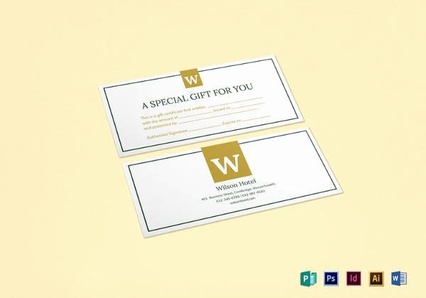 Simple Gift Certificate Template Awesome 7 Hotel Gift Certificate Templates Free Sample Example