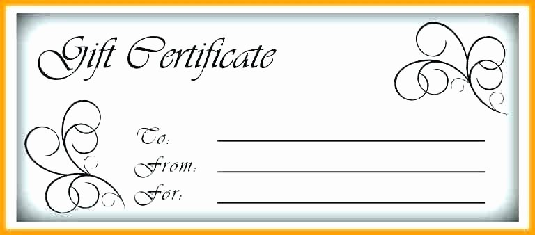 Simple Gift Certificate Template Awesome Simple T Certificate Template