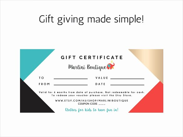Simple Gift Certificate Template Beautiful 23 Birthday Certificate Templates Psd Eps In Design