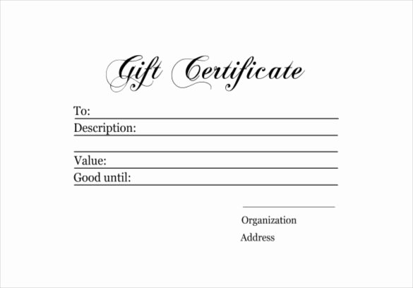 Simple Gift Certificate Template Beautiful 6 Homemade Gift Certificate Templates Doc Pdf
