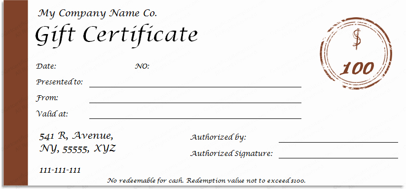 Simple Gift Certificate Template Best Of Award Of Excellence Template Get Certificate Templates