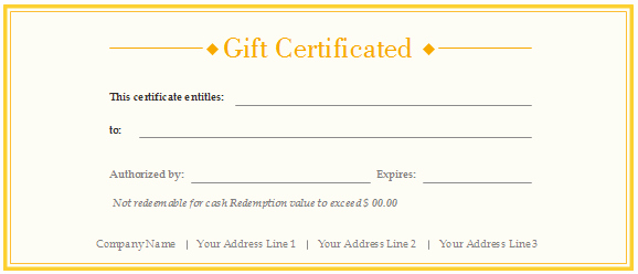 Simple Gift Certificate Template Elegant Free Gift Certificate Templates Customizable and Printable