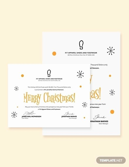 Simple Gift Certificate Template Fresh 20 Christmas Gift Certificate Templates Word Pdf Psd