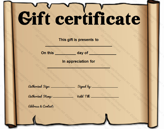 Simple Gift Certificate Template Fresh Simple T Certificate Templates