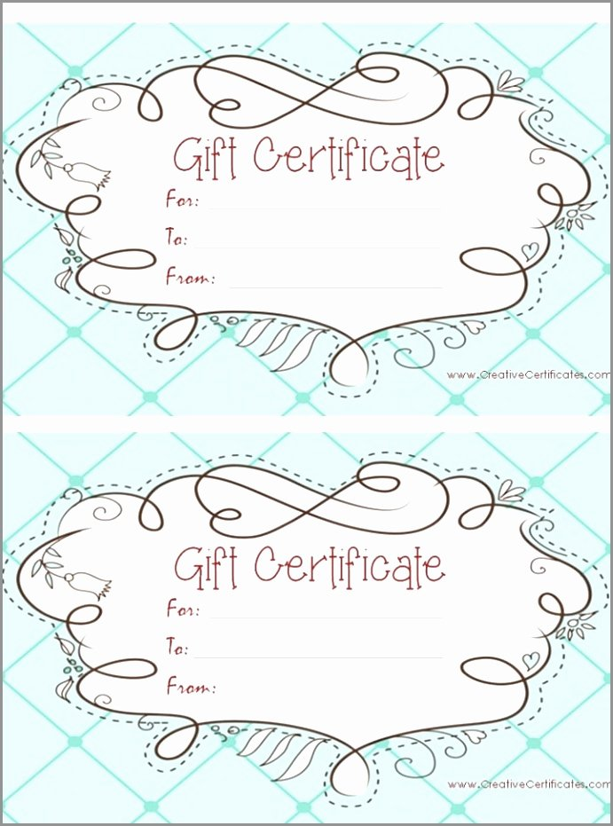 Simple Gift Certificate Template Inspirational Free Printable Gift Certificate Templates Certificate