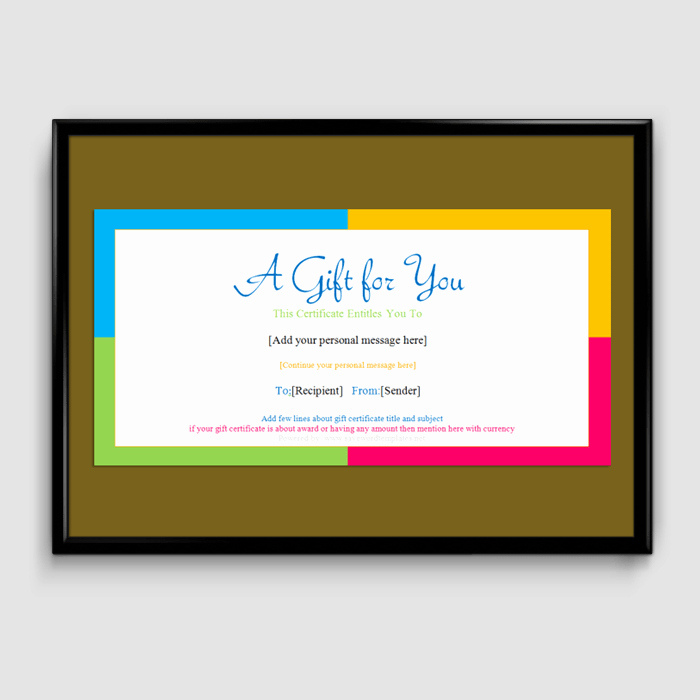 Simple Gift Certificate Template Lovely Gift Certificate Template 6 Fillable Certificate