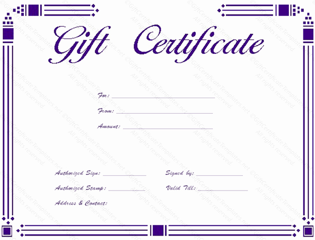 Simple Gift Certificate Template New Free Simple Certificate Borders Download Free Clip Art