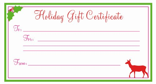 Simple Gift Certificate Template New Holiday Gift Certificate Template Free Printablekitty Baby