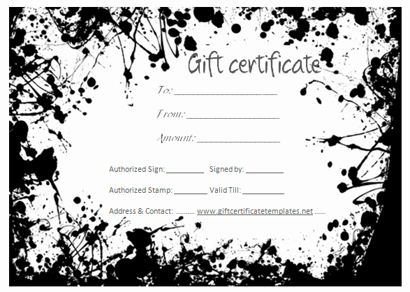 Simple Gift Certificate Template Unique Simple T Certificate Templates