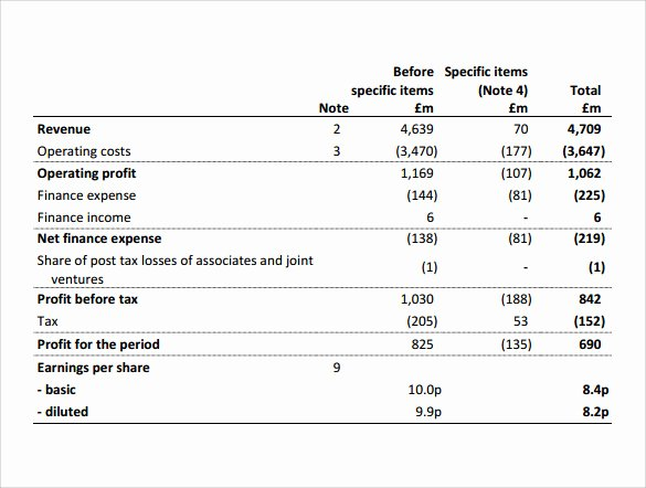 Simple Income Statement Template Awesome 13 In E Statements – Samples Examples & format