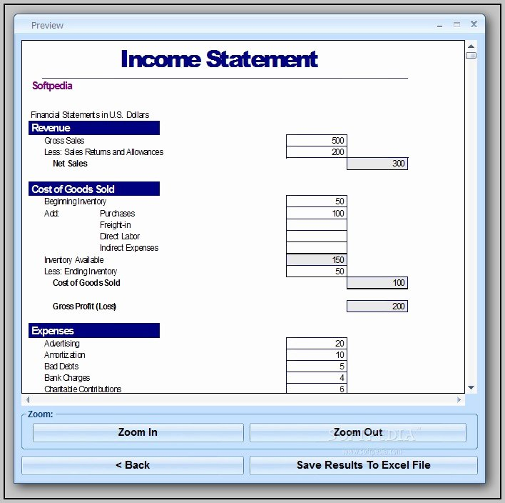 Simple Income Statement Template Best Of Basic In E Statement Template Excel Spreadsheet