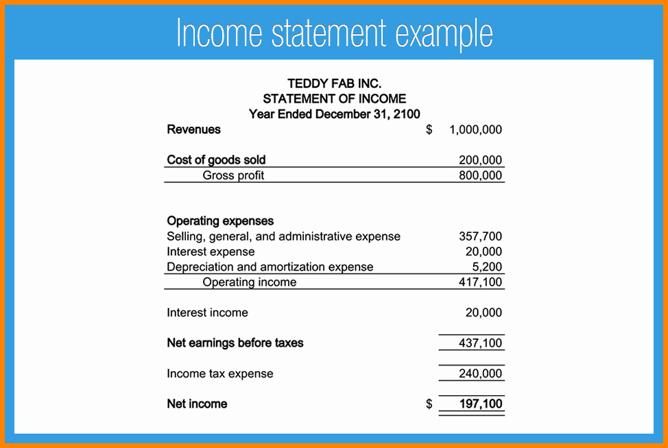 Simple Income Statement Template Elegant Simple Financial Statement Template Simple Business Model
