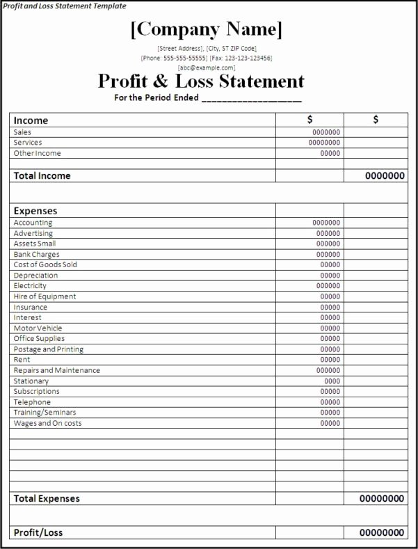 Simple Income Statement Template Inspirational Simple In E Statement Template In E Spreadsheet In E
