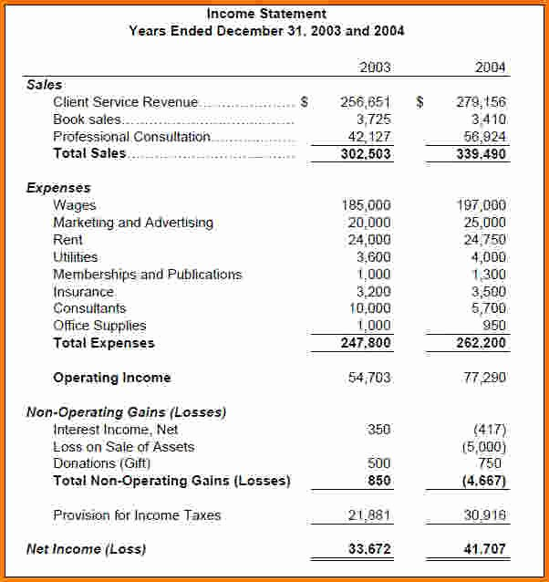 Simple Income Statement Template Luxury the Gallery for Basic In E Statement Template