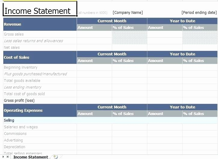 Simple Income Statement Template Unique Balance Sheet Template Rental Property – Flybymedia