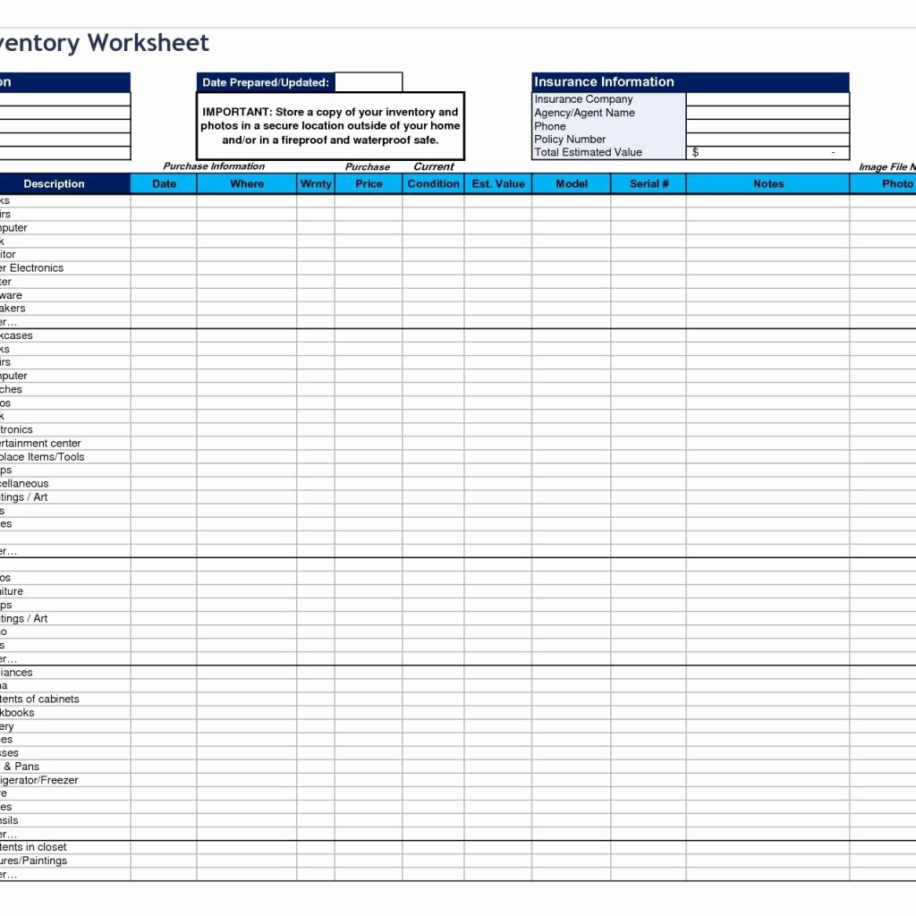 Simple Inventory Excel Template Beautiful Simple Inventory Spreadsheet La Portalen Document