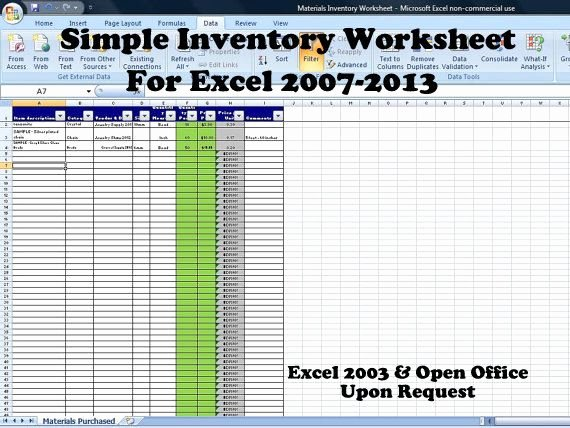 Simple Inventory Excel Template Beautiful Simple Inventory Worksheet Vendor Price Parison and
