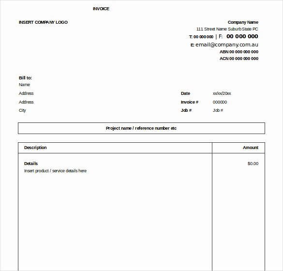 Simple Invoice Template Excel Beautiful Excel Invoice Template 31 Free Excel Documents Download