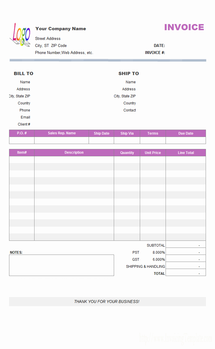 Simple Invoice Template Excel Elegant Pastel Invoice Template Download