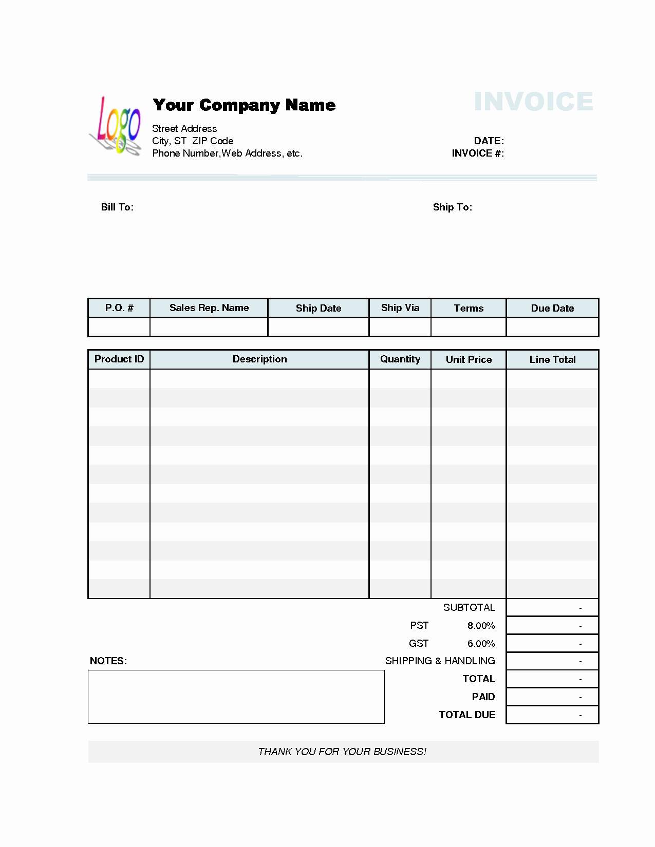 Simple Invoice Template Excel Lovely Invoice Template Excel 2010