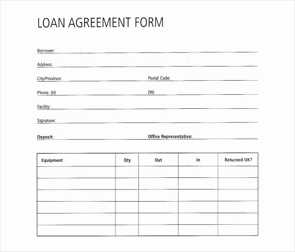 Simple Loan Application form Template Fresh 28 Loan Contract Templates – Pages Word Docs