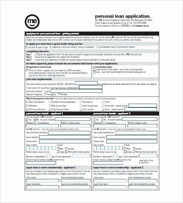 Simple Loan Application form Template Luxury Personal Loan Template Word – Mistblowerfo