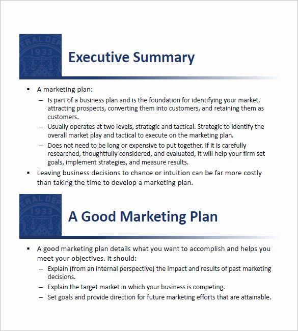 Simple Marketing Plan Template Beautiful 9 Small Business Marketing Plan Templates Doc Pdf
