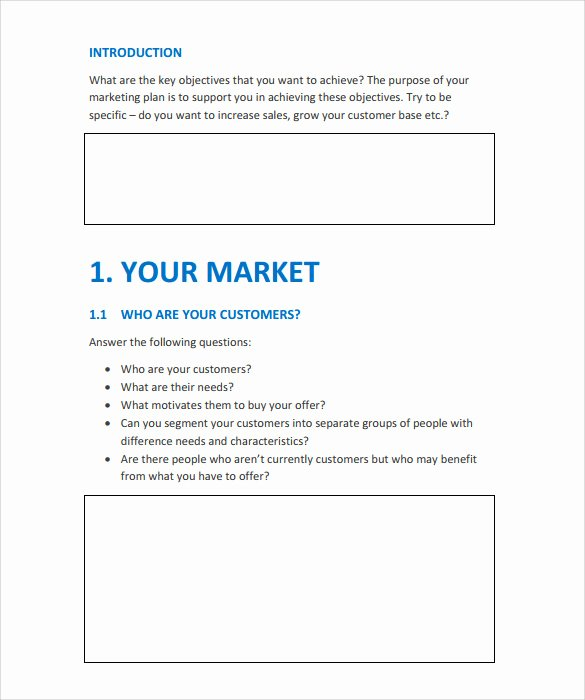 Simple Marketing Plan Template Best Of 15 Marketing Action Plan Templates to Download for Free