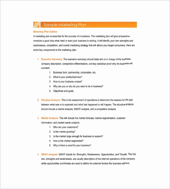 Simple Marketing Plan Template Elegant 19 Simple Marketing Plan Templates Doc Pdf